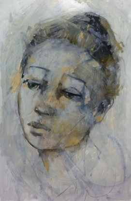 """(CreativeWork) """"THE LIGHTNESS OF BEING"""" by julie hutchings. Mixed Media. Shop online at Bluethumb."""