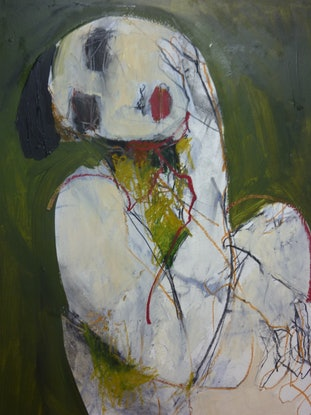 """(CreativeWork) """"SAVE FACE"""" by julie hutchings. Mixed Media. Shop online at Bluethumb."""