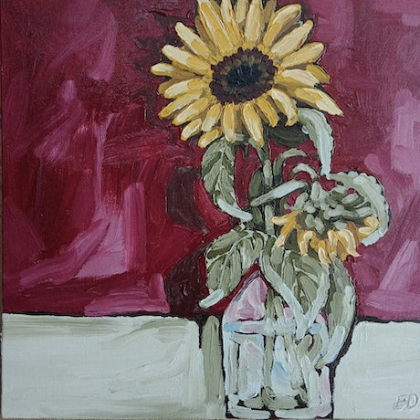 "(CreativeWork) ""FACE TOWARDS THE SUN"" by Emily Day. Acrylic Paint. Shop online at Bluethumb."