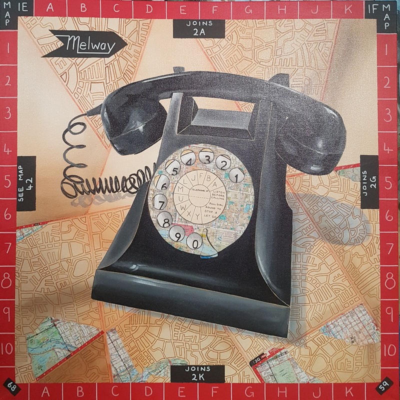 (CreativeWork) Waiting By The Phone by Elise Judd. Mixed Media. Shop online at Bluethumb.