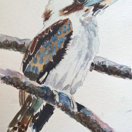 (CreativeWork) Morning Song by Frances Swan. Watercolour Paint. Shop online at Bluethumb.