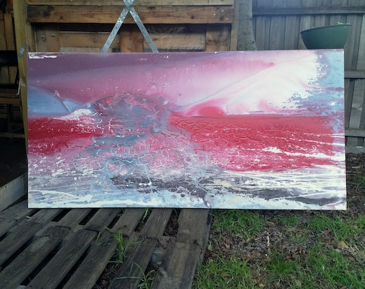 (CreativeWork) New Dawn by William Holt. Acrylic Paint. Shop online at Bluethumb.