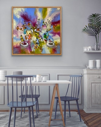 (CreativeWork) Floaties - Original Artwork  by Donald James Waters OAM. Acrylic Paint. Shop online at Bluethumb.