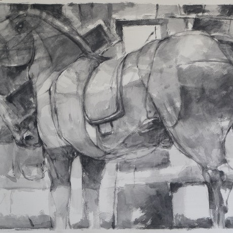 (CreativeWork) Trojan Horse 3 by Tony Belobrajdic. Drawings. Shop online at Bluethumb.