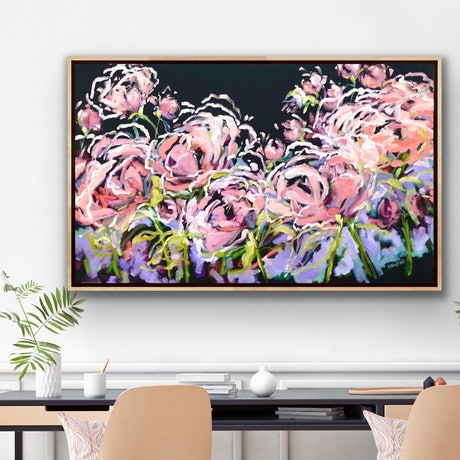 (CreativeWork) Love Is In The Air - Flowers Give Happiness - Abstract by Jen Shewring. Oil Paint. Shop online at Bluethumb.