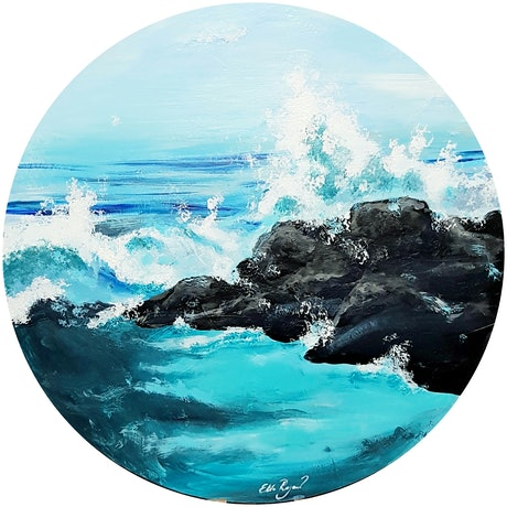(CreativeWork) You are only coming through in waves  by Elda Rajovic. Acrylic Paint. Shop online at Bluethumb.
