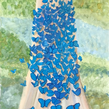 (CreativeWork) Springtime Dreaming  by Belinda Hackney. Acrylic Paint. Shop online at Bluethumb.