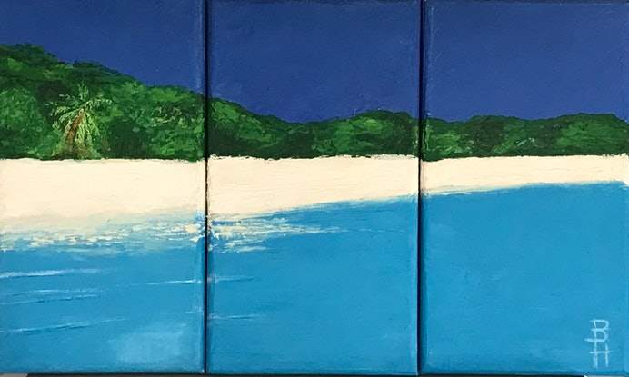 (CreativeWork) Whitehaven  by Belinda Hackney. Oil Paint. Shop online at Bluethumb.