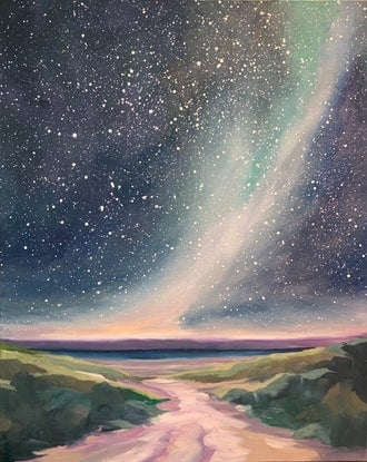 (CreativeWork) The Night by Aylee Kim. Oil Paint. Shop online at Bluethumb.