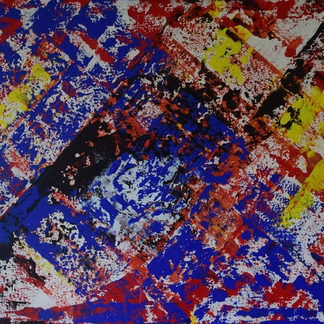 (CreativeWork) Aerial by Ric Connors. Acrylic Paint. Shop online at Bluethumb.