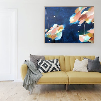 (CreativeWork) Moon Dance by Marnie McKnight. Acrylic Paint. Shop online at Bluethumb.