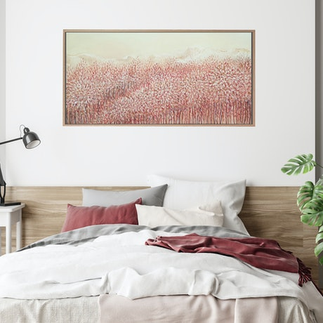 (CreativeWork) Autumn Colours Calling (Original Abstract Landscape - Lounge Room, Bedroom Art) by Leni Kae. Acrylic Paint. Shop online at Bluethumb.