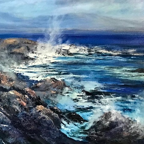 (CreativeWork) South West Coast  by Rachel Howell. Oil Paint. Shop online at Bluethumb.