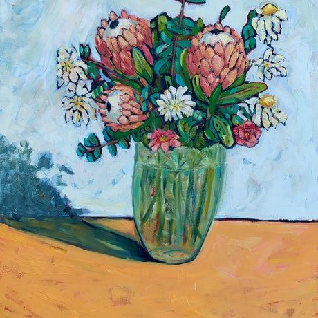 (CreativeWork) Nurturing Bloom by Wendy Bache. Oil Paint. Shop online at Bluethumb.