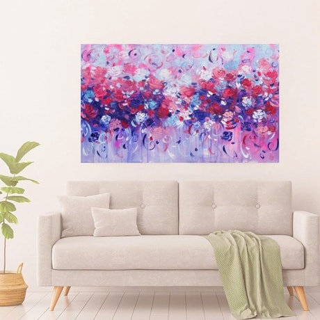 (CreativeWork) A Blossoming Love  by Belinda Nadwie. Oil Paint. Shop online at Bluethumb.