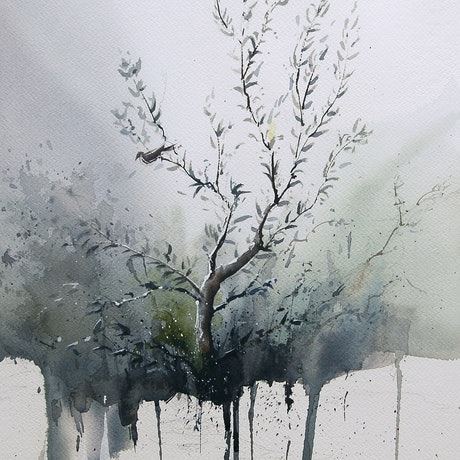 (CreativeWork) Wetlands by Dylan Shearsby. Watercolour Paint. Shop online at Bluethumb.