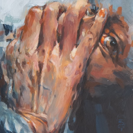 (CreativeWork) Hand in F by Tony Belobrajdic. Acrylic Paint. Shop online at Bluethumb.
