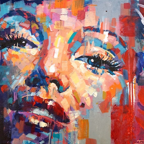 (CreativeWork) Marilyn Monroe 21 by Jos Coufreur. Acrylic Paint. Shop online at Bluethumb.