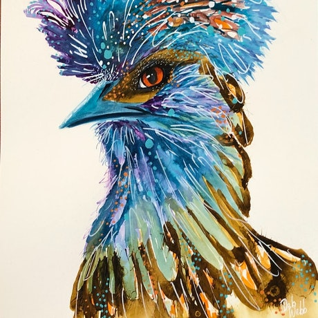 (CreativeWork) Judgmental Polish Chicken  by Deb Webb. Other Media. Shop online at Bluethumb.