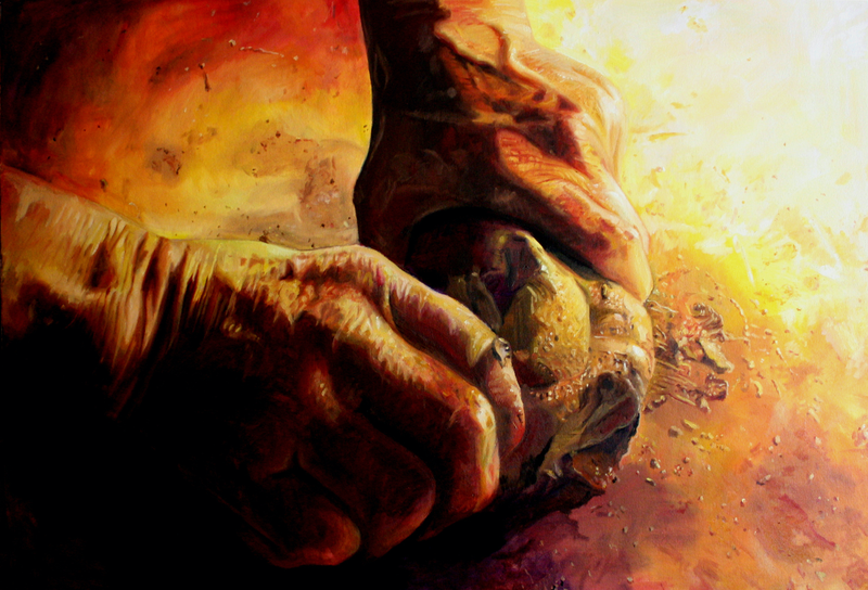 (CreativeWork) The Maker by Jaq Grantford. Oil Paint. Shop online at Bluethumb.