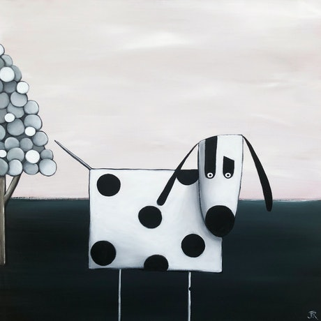 (CreativeWork) Dog #19 by Julie Robertson. Acrylic Paint. Shop online at Bluethumb.
