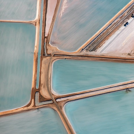 (CreativeWork) Abstract  Aerial of Salt Lake 4  #1 of 10 Ed. 1 of 10 by Craig Hammersley. Photograph. Shop online at Bluethumb.