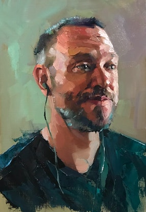 (CreativeWork) Oil Sketch - Will Young by Colleen Stapleton. Oil Paint. Shop online at Bluethumb.