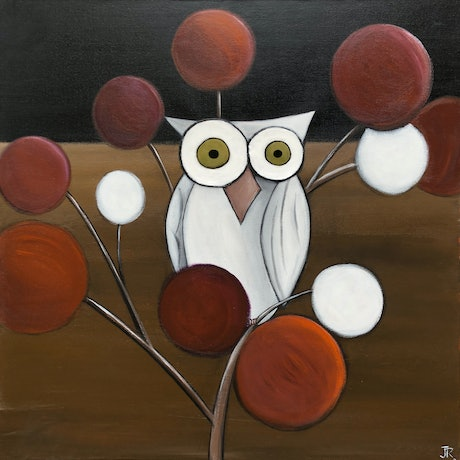 (CreativeWork) Owl 3 by Julie Robertson. Mixed Media. Shop online at Bluethumb.