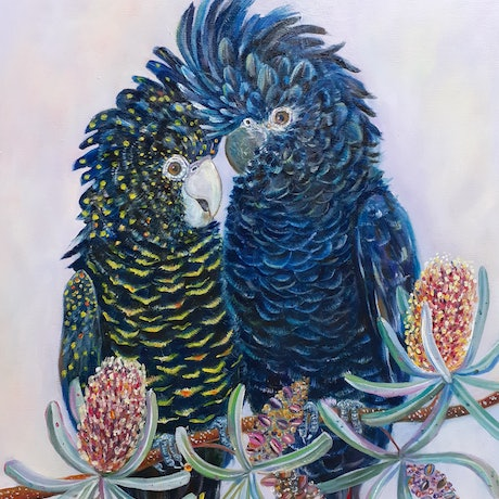 (CreativeWork) When we're together. by Joanne Scriha. Oil Paint. Shop online at Bluethumb.