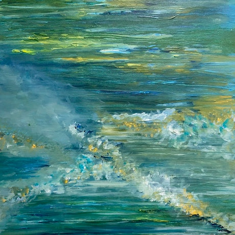 (CreativeWork) Seas by Maria Moshonis. Acrylic Paint. Shop online at Bluethumb.