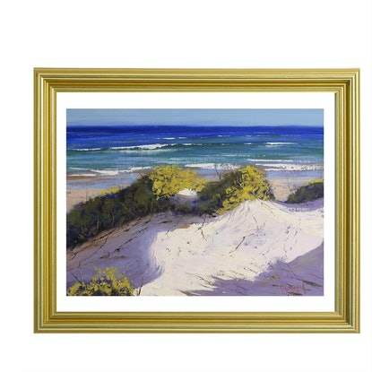 (CreativeWork) Central coast Dunes, nsw  by Graham Gercken. Oil Paint. Shop online at Bluethumb.