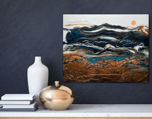 (CreativeWork) Burnished Impression by Brigitte Ackland. Acrylic Paint. Shop online at Bluethumb.