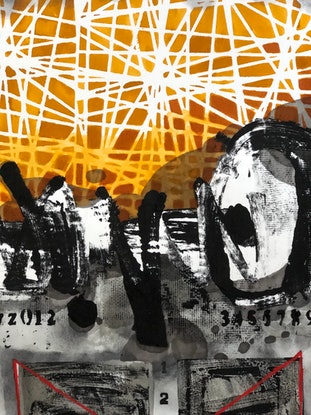 (CreativeWork) COMPOSITION NO. 256 [ THE FINAL SIGN ] - 2020 by G Kustom Kuhl. Mixed Media. Shop online at Bluethumb.