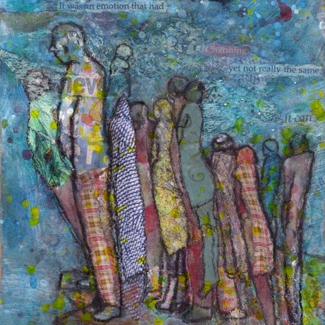 (CreativeWork) Join the Queue by Chris Rowe. Mixed Media. Shop online at Bluethumb.