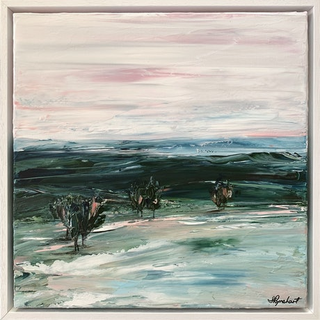 (CreativeWork) Winter Solace by Sharon Rynehart. Acrylic Paint. Shop online at Bluethumb.