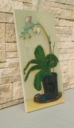 (CreativeWork) Orchid Time by Tetyana Khytko. Oil Paint. Shop online at Bluethumb.