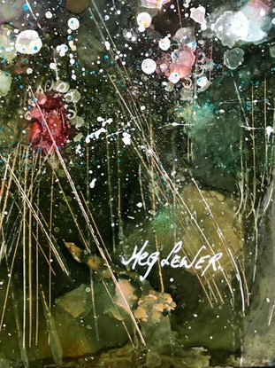 (CreativeWork) Breath Of The Moon by Meg Lewer. Mixed Media. Shop online at Bluethumb.