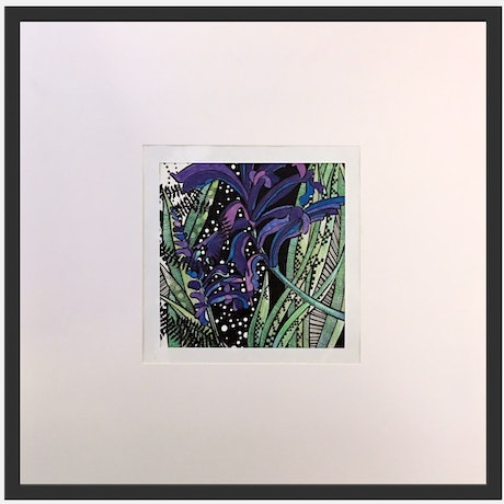 (CreativeWork) Purple Spiked Flower 2 by Tania Daymond. Drawings. Shop online at Bluethumb.