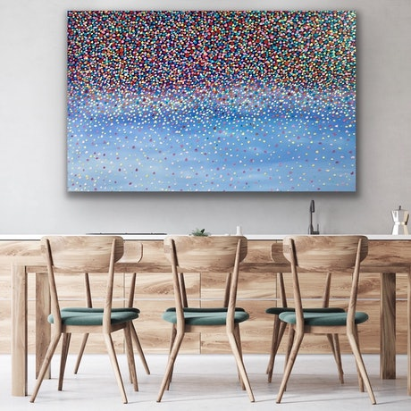 (CreativeWork) Waterfall Breeze  by Theo Papathomas. Oil Paint. Shop online at Bluethumb.