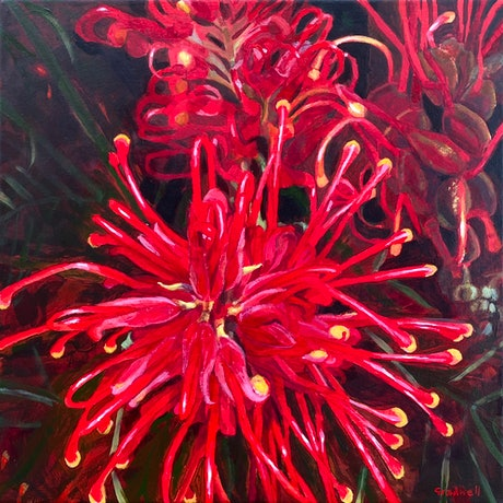 (CreativeWork) Profusion Confusion  by Kate Gradwell. Acrylic Paint. Shop online at Bluethumb.