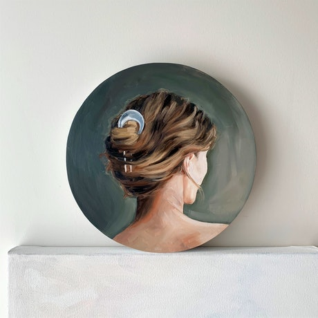 (CreativeWork) Evelyn   by Holly Harper. Oil Paint. Shop online at Bluethumb.