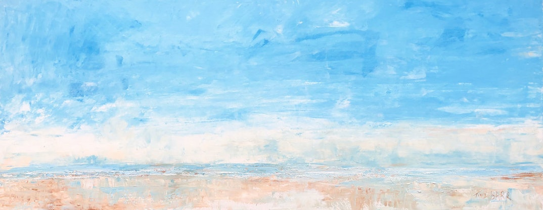 (CreativeWork) Morning shores by Tina Barr. Acrylic Paint. Shop online at Bluethumb.