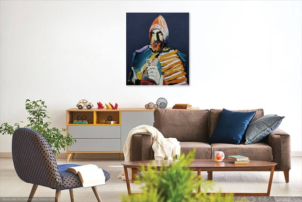 (CreativeWork) Playing With The Queen Of Hearts by Steve Tyerman. Oil Paint. Shop online at Bluethumb.