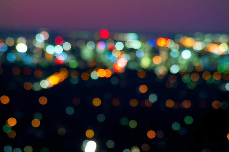 (CreativeWork) City Lights from a Hill 2 Ed. 1 of 5 by Alex Frayne. Photograph. Shop online at Bluethumb.