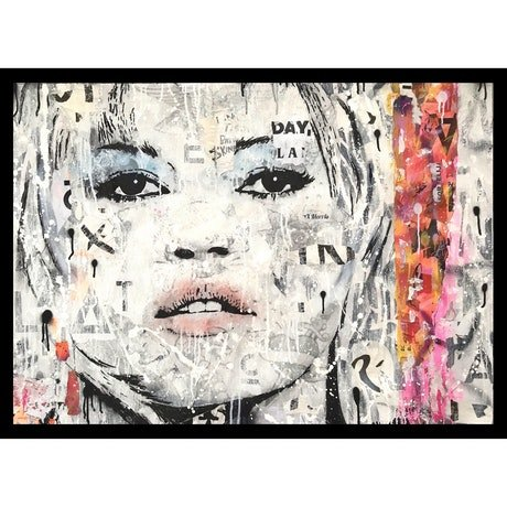 (CreativeWork) MISS X by Cold Ghost. Mixed Media. Shop online at Bluethumb.