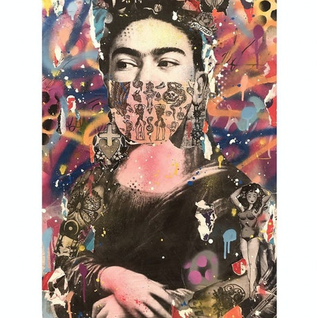 (CreativeWork) MONA KHALO  by Cold Ghost. Mixed Media. Shop online at Bluethumb.