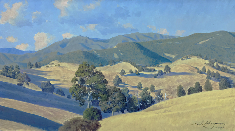 (CreativeWork) Morning, Megalong Valley by Steven Heyen. Oil Paint. Shop online at Bluethumb.