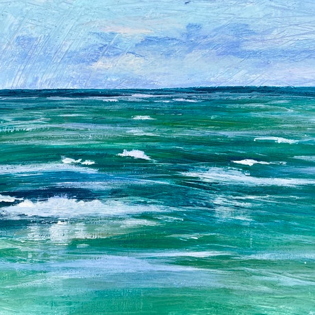 (CreativeWork) Tide by Pip Phelps. Acrylic Paint. Shop online at Bluethumb.