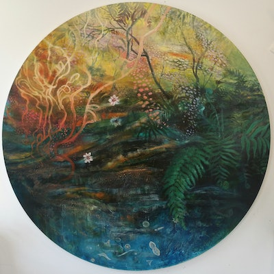 (CreativeWork) Forest Ecology (takayna) by Erin Amor. Oil Paint. Shop online at Bluethumb.