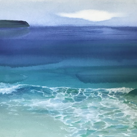 (CreativeWork) NORTH COAST 1 by Helen Halliday. Acrylic Paint. Shop online at Bluethumb.